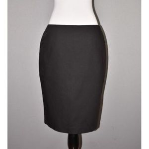 CYTNHIA STEFFE Black Stretch Cotton Pencil Skirt
